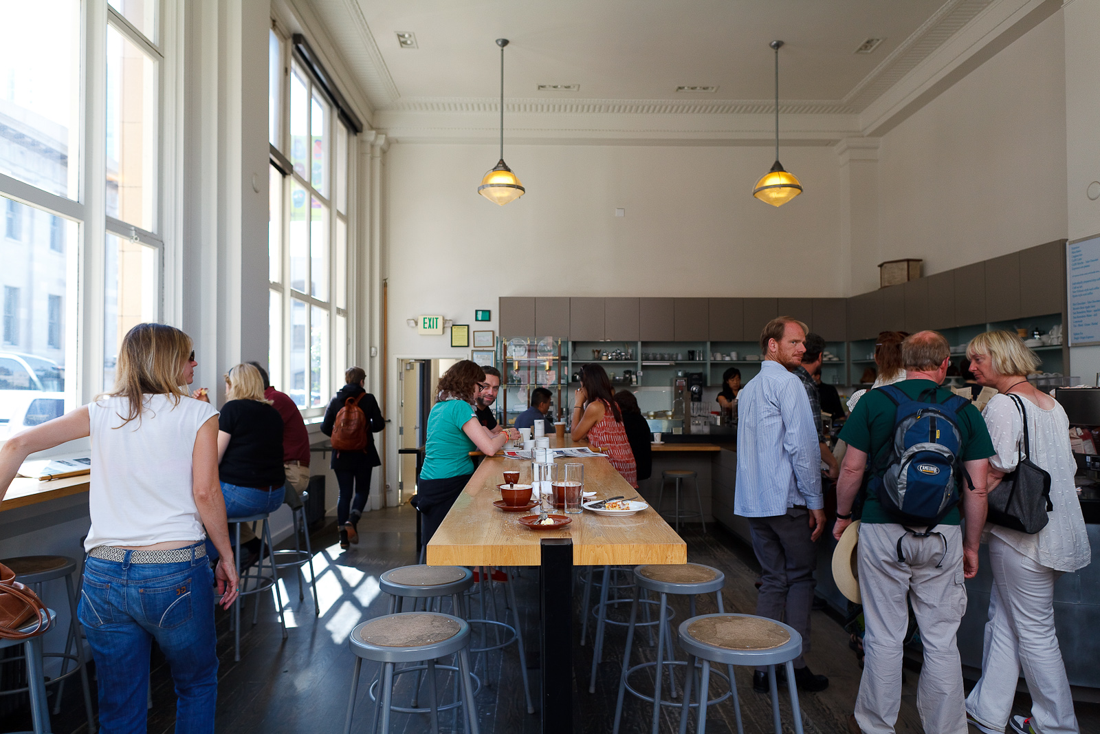 Interior of Blue Bottle, Mint Plaza