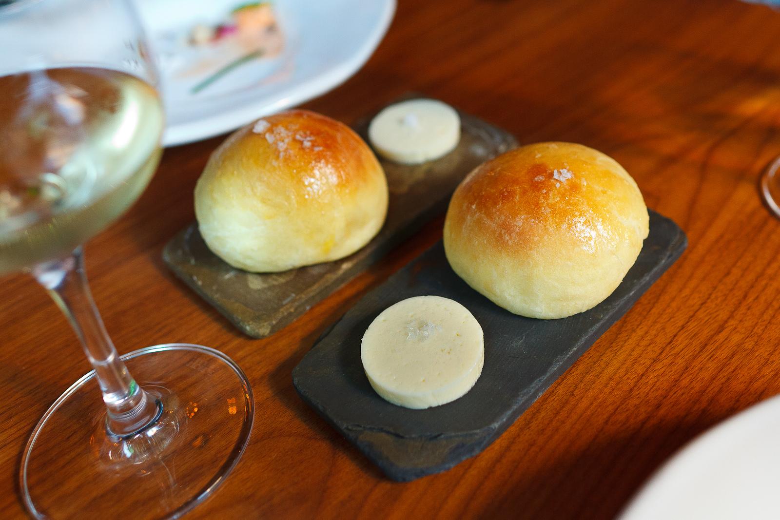 Brioche bread and butter