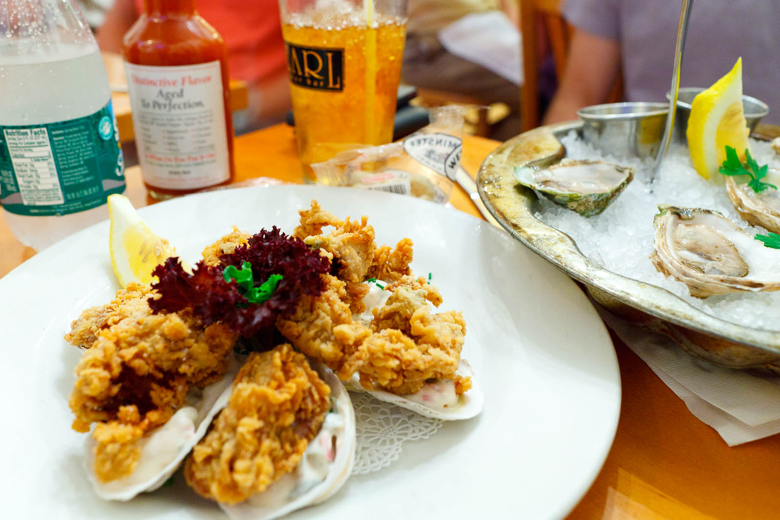 Fried oysters ($13.75)
