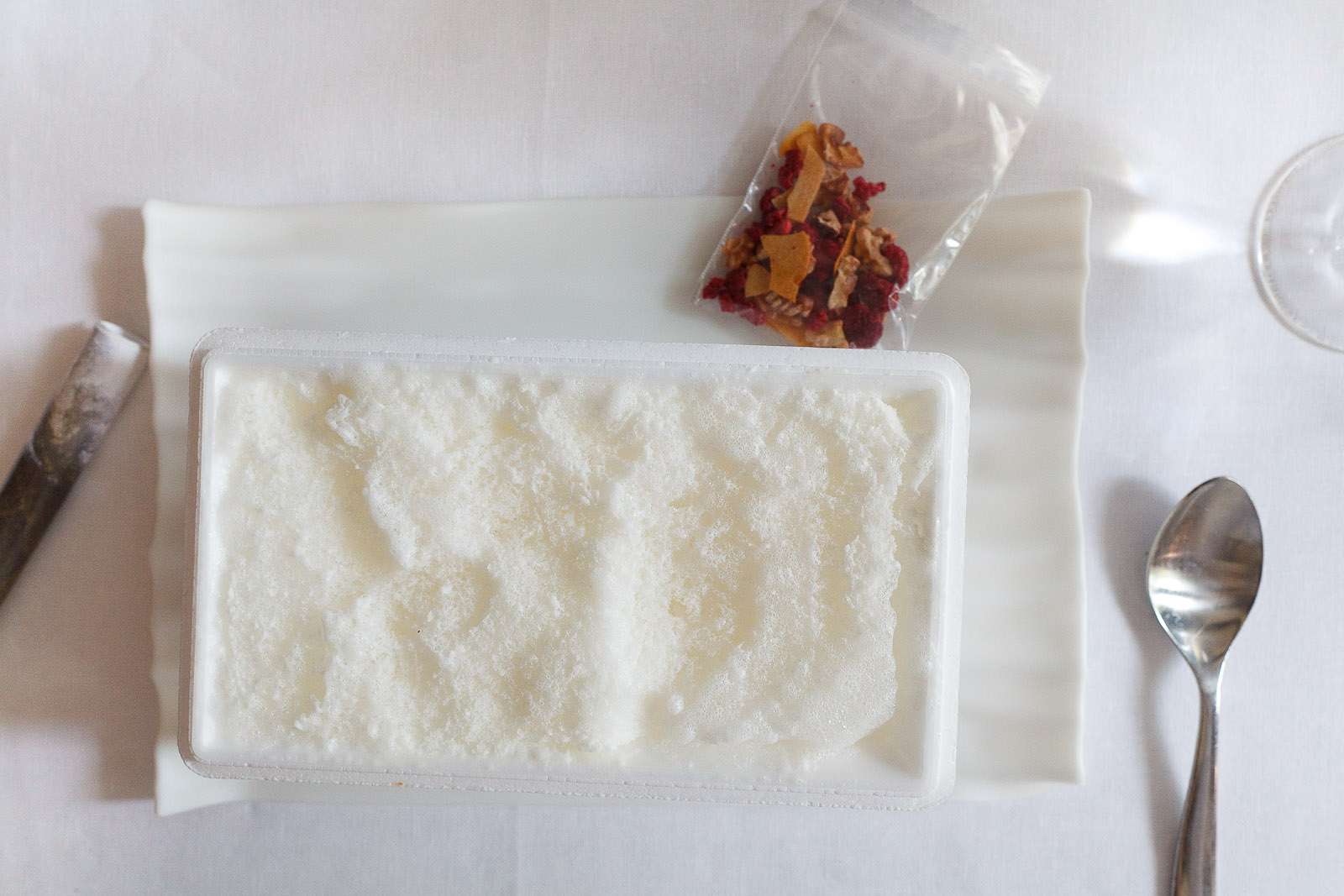 21st Course, Part II: Parmesan frozen-air with museli