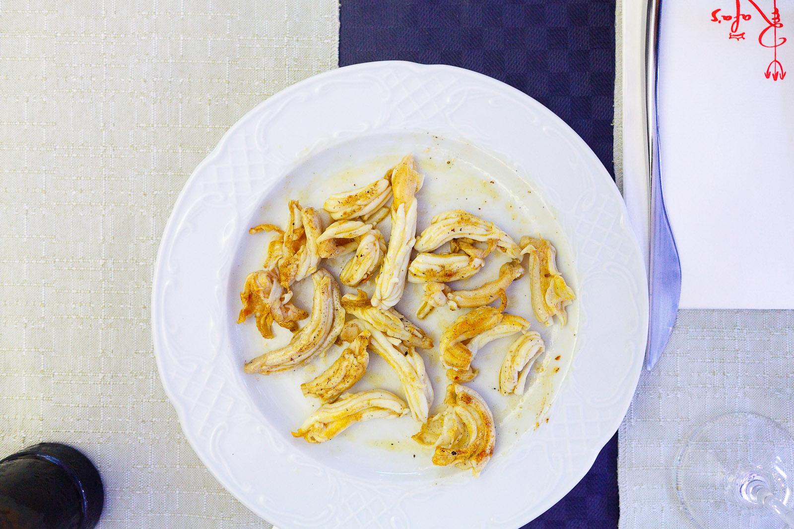 Espardenyes (Mediterranean sea cucumbers) a la plancha