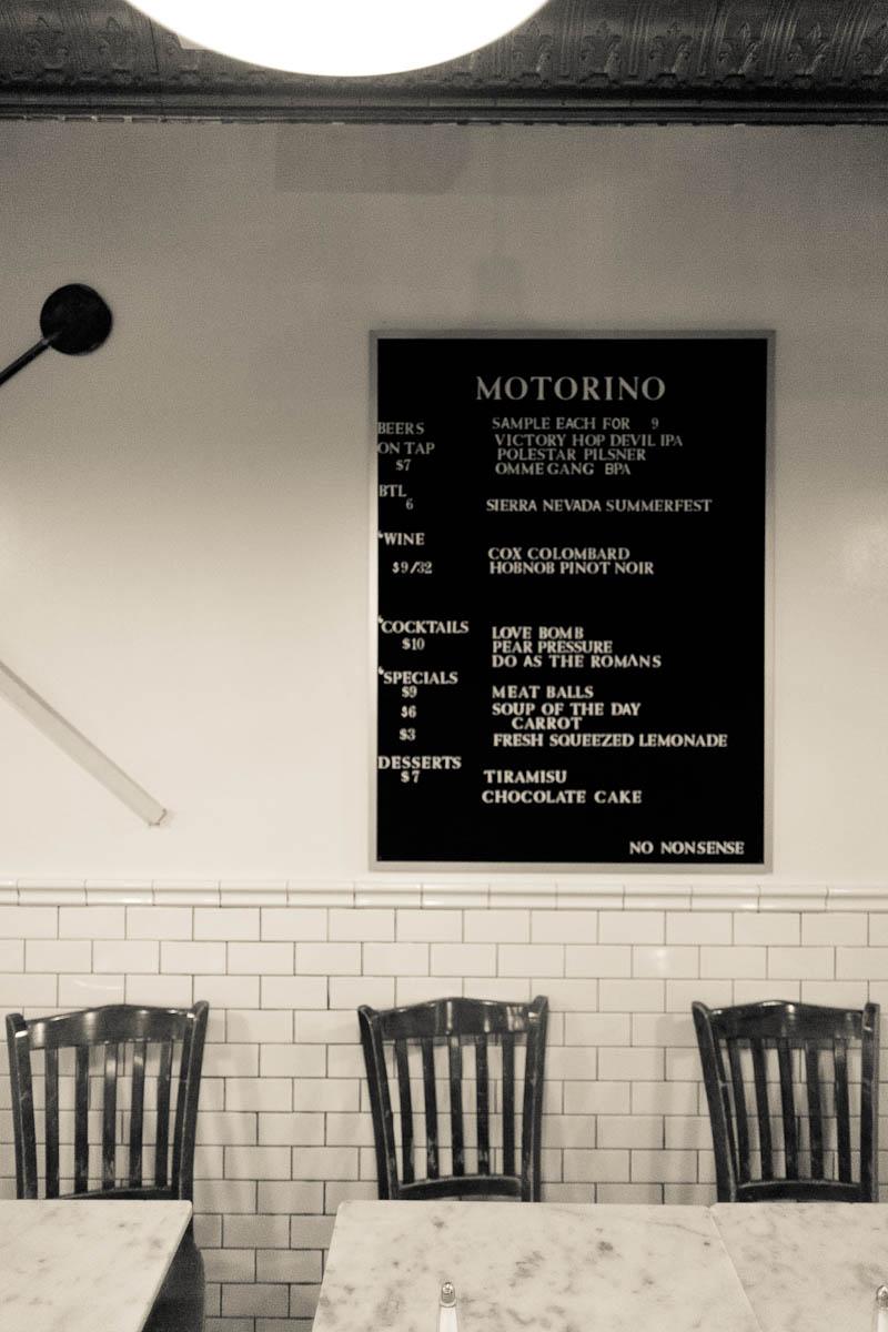 No nonsense menu