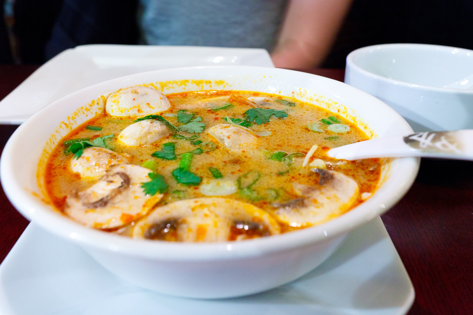 Tom yum goong ($5)