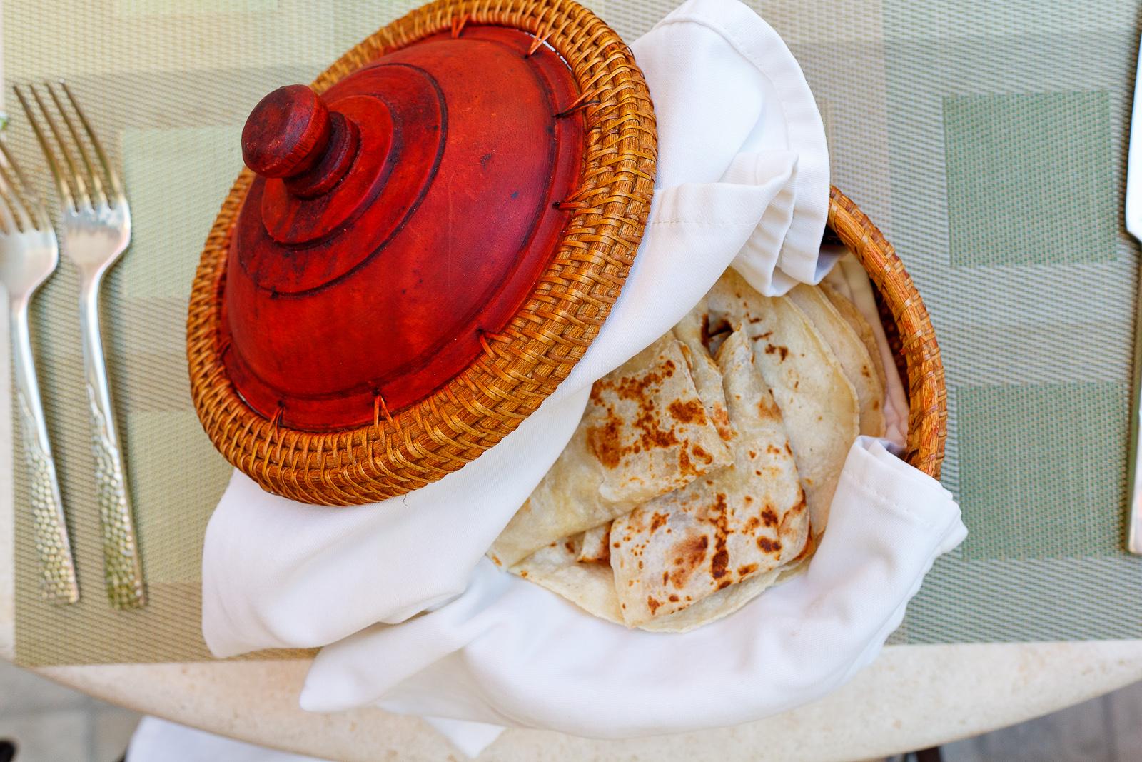 Tortillas recien hechas de harina