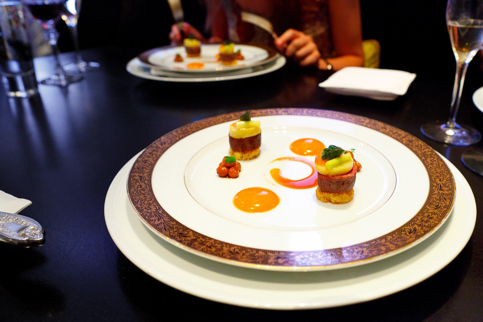 13th Course: Agneau, sauce choron, pomme de terre