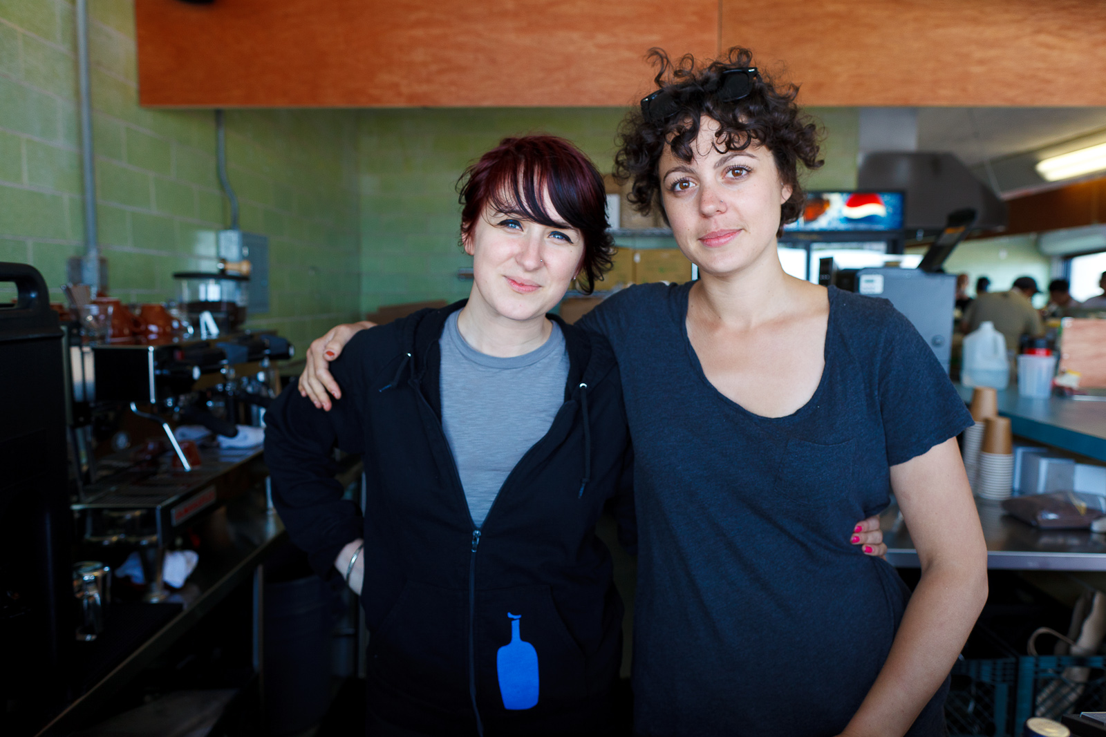 Friendly baristi at Rockaway Beach