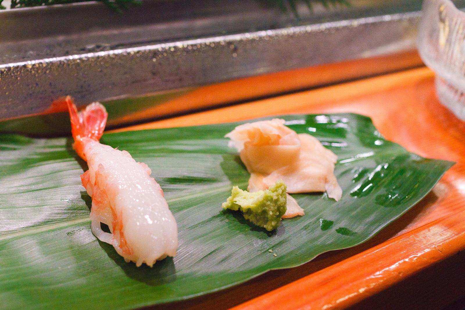 Amaebi sushi ($4)