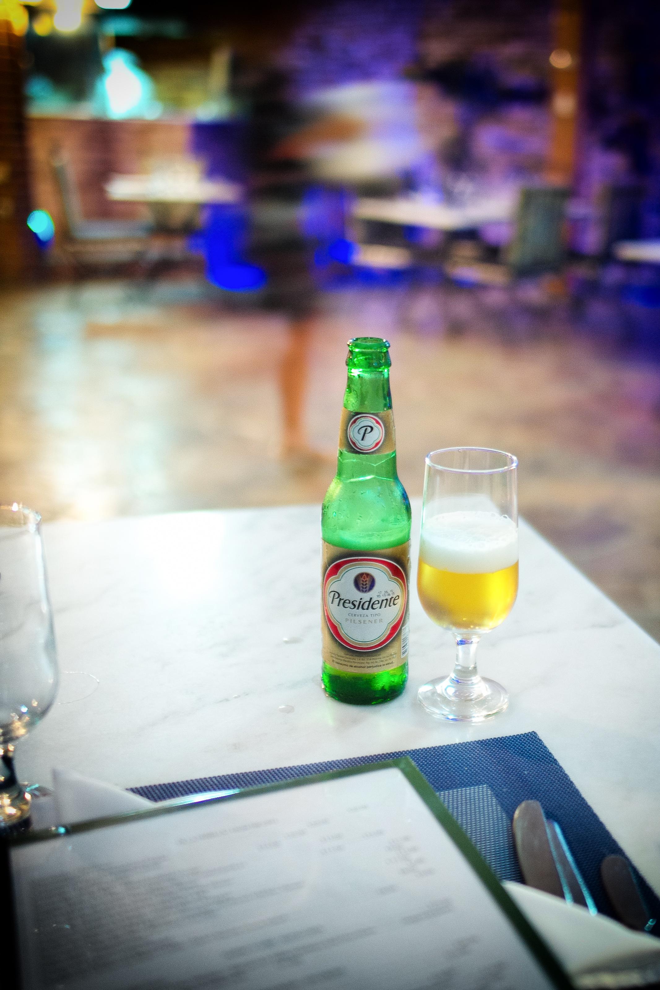 Cerveza Presidente (from the Dominican Republic)