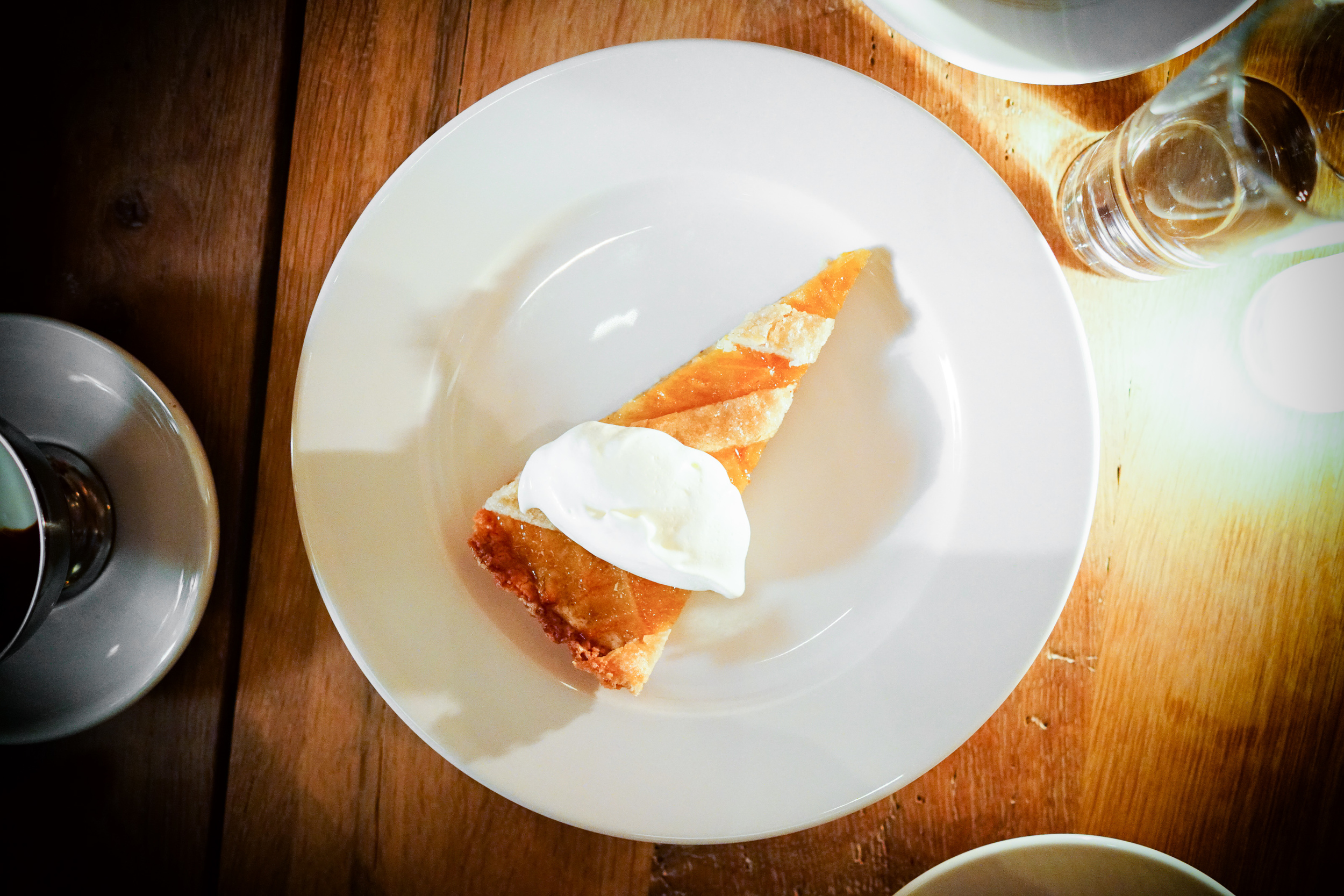 Seasonal crostata ($11)