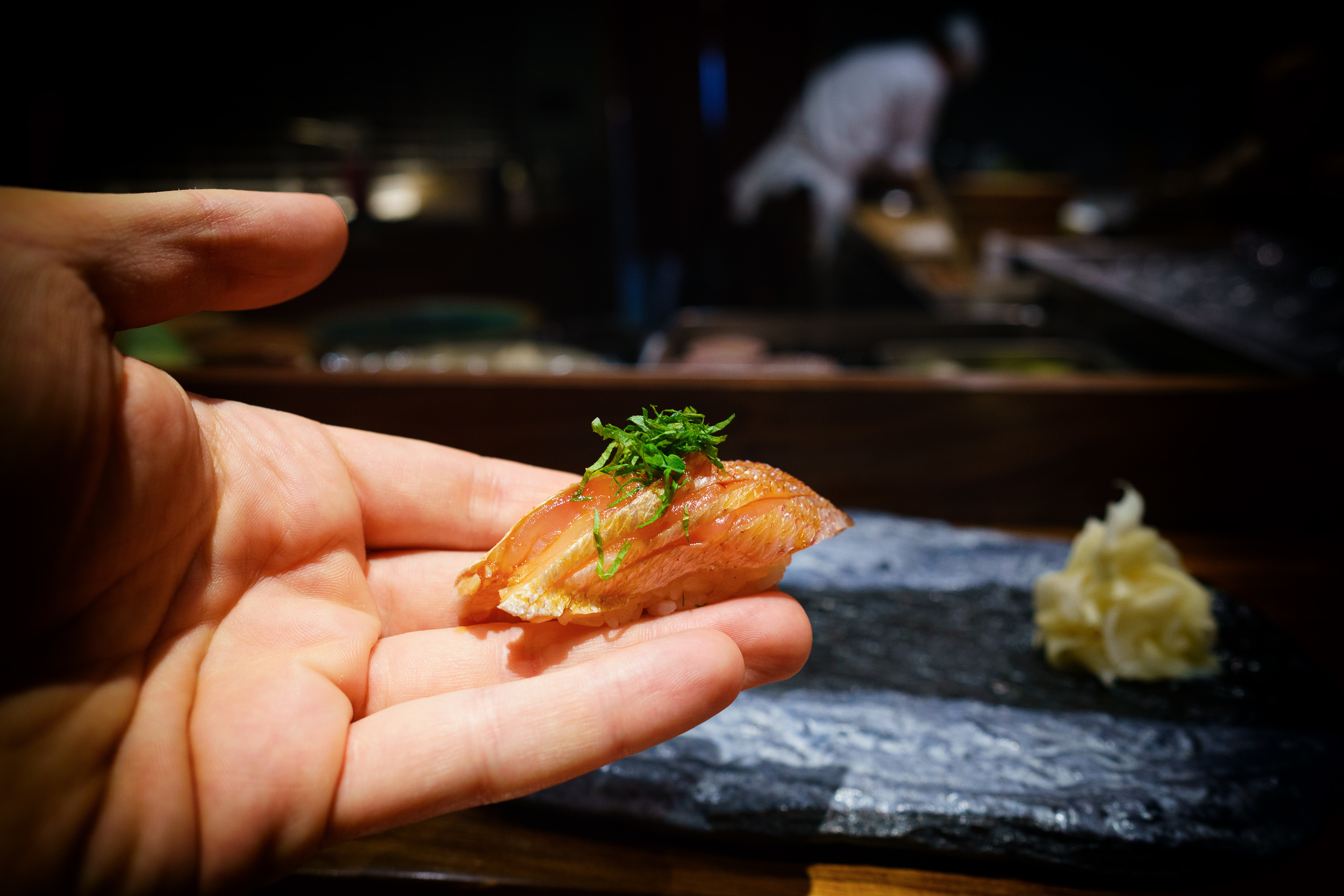 Kasugo (red seabream) with pickled plum