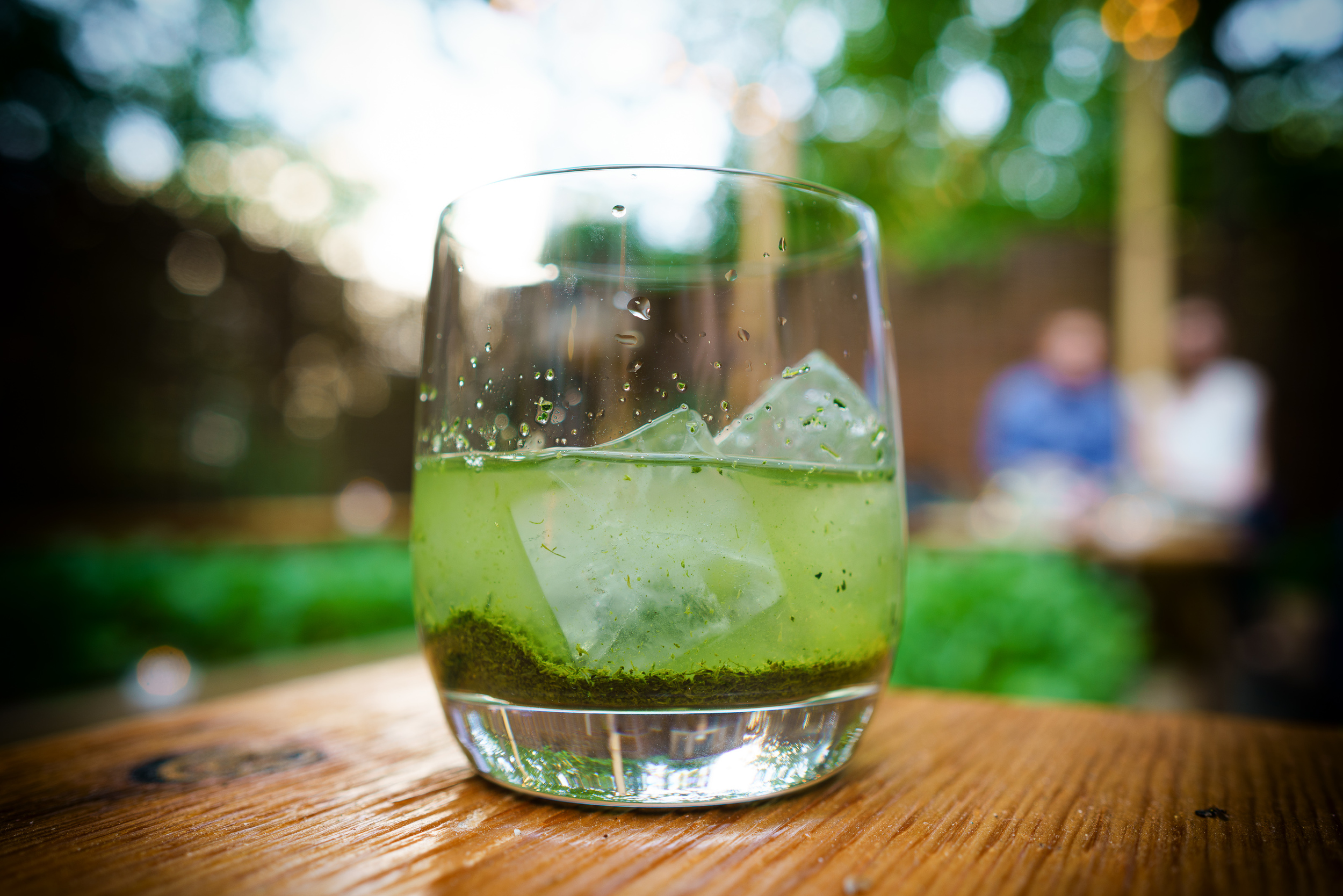 "Shincha green tea ice-brewed for 20-minutes ""kouridashi-style"""