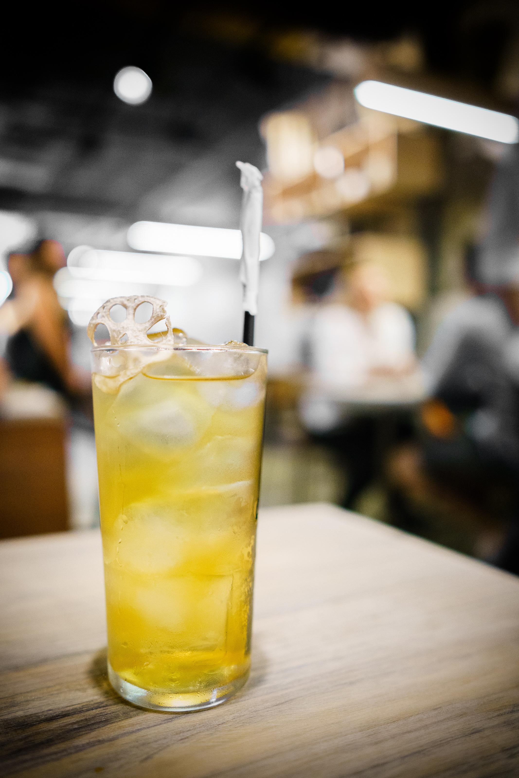 Iced corn silk tea