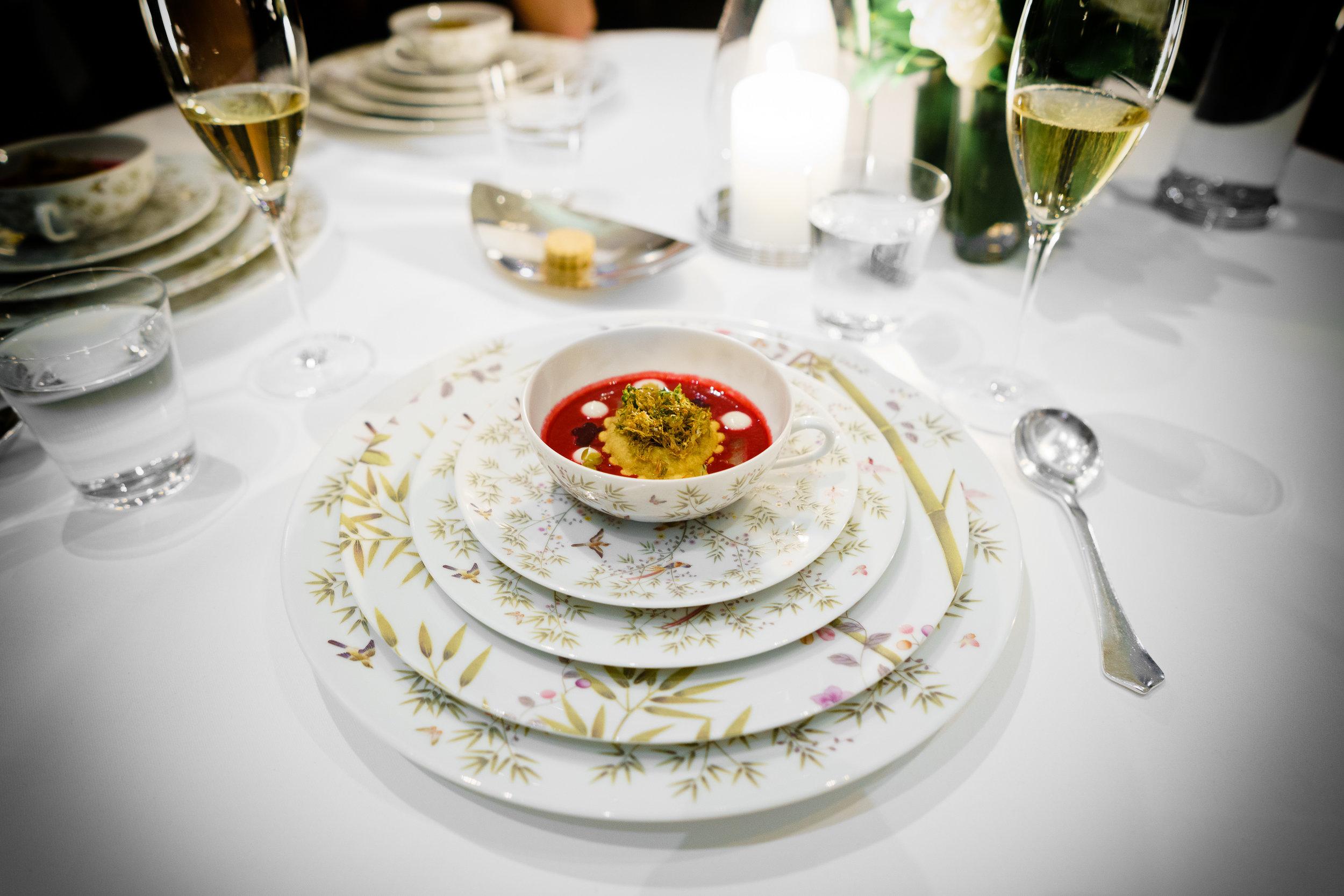 """Borscht"" - Short Rib Pierogi and Horseradish Crème Fraîche"