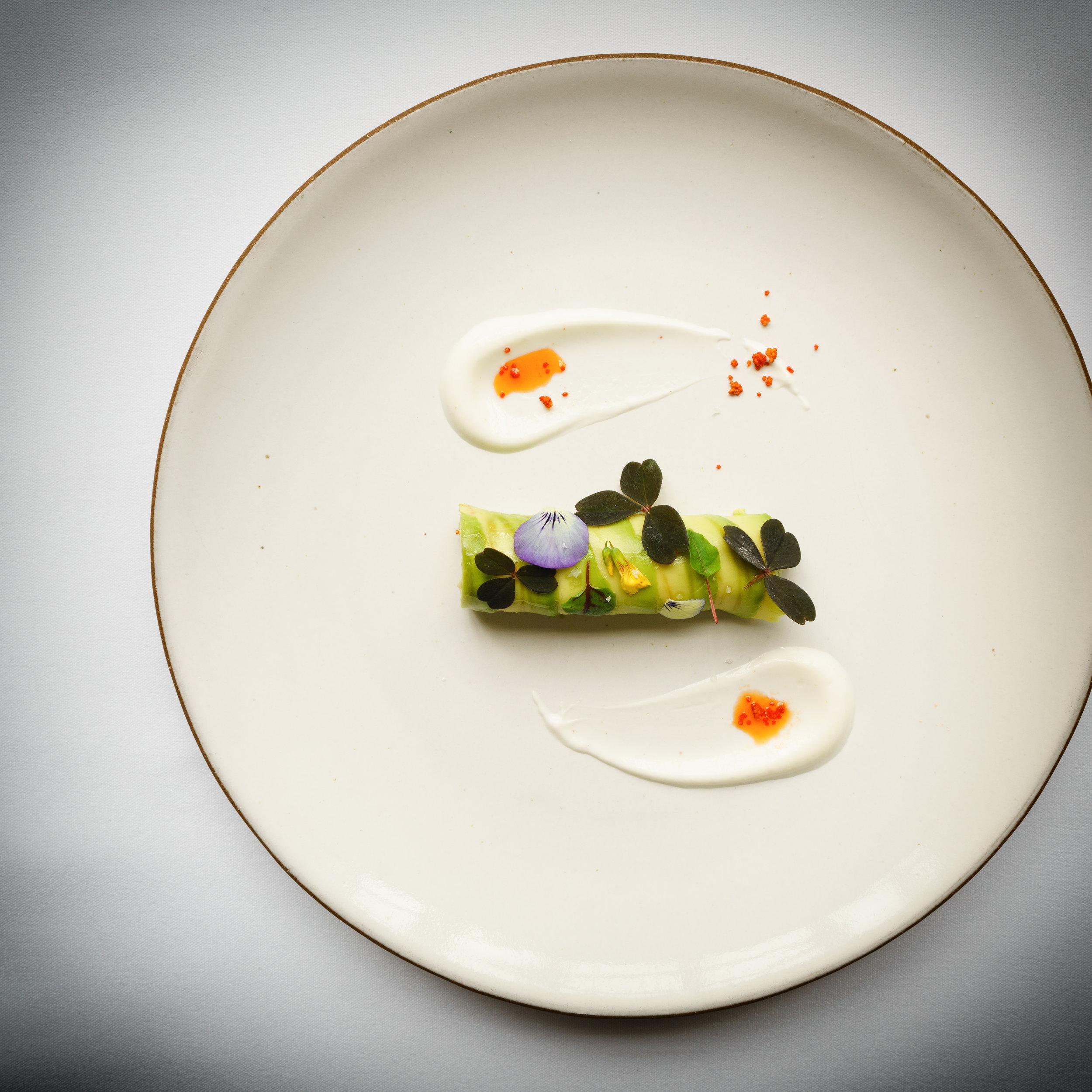 Prawn: Roulade with avocado and yogurt (2007)