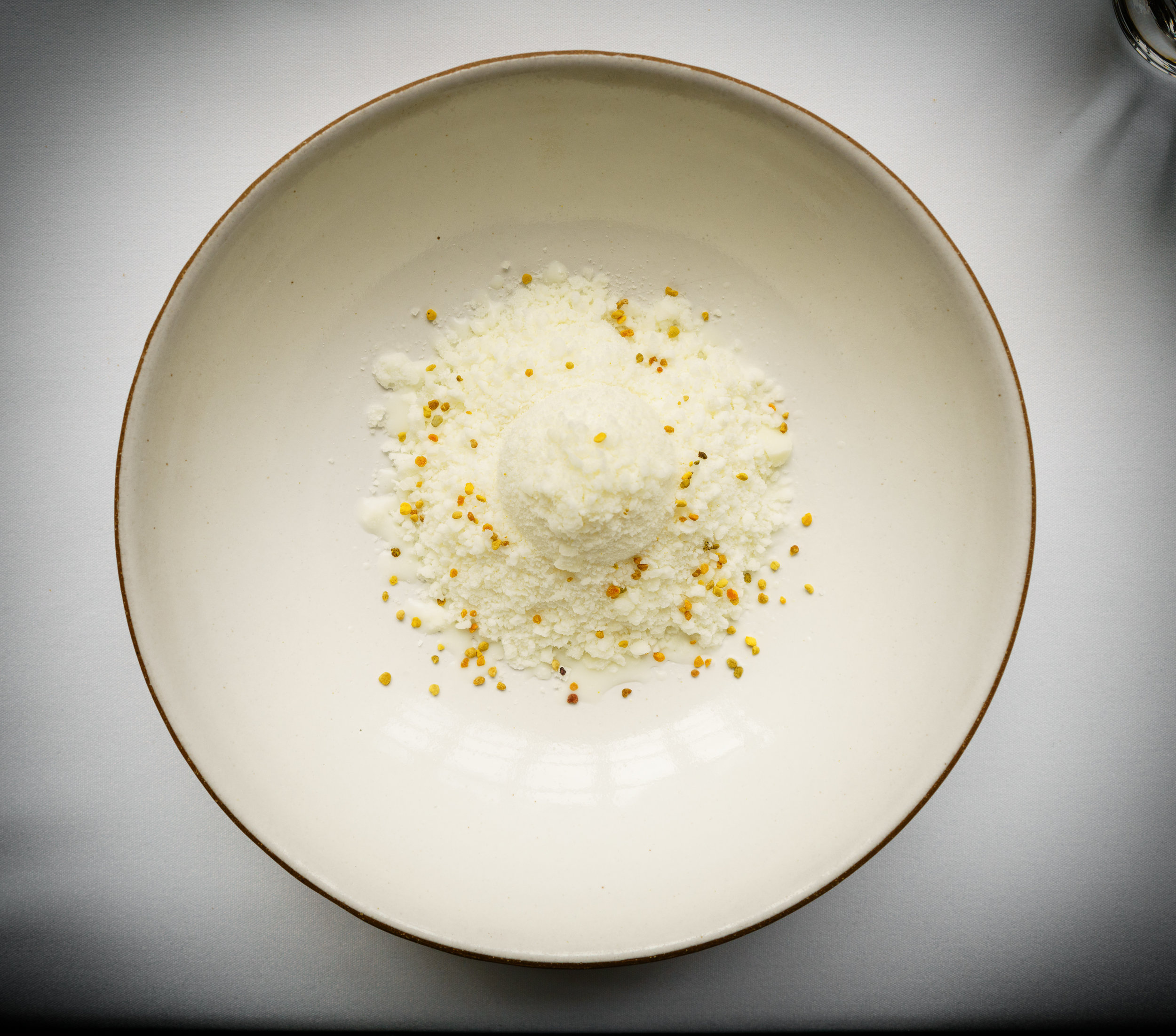 Milk and Honey: with dehydrated milk foam and bee pollen (2010)