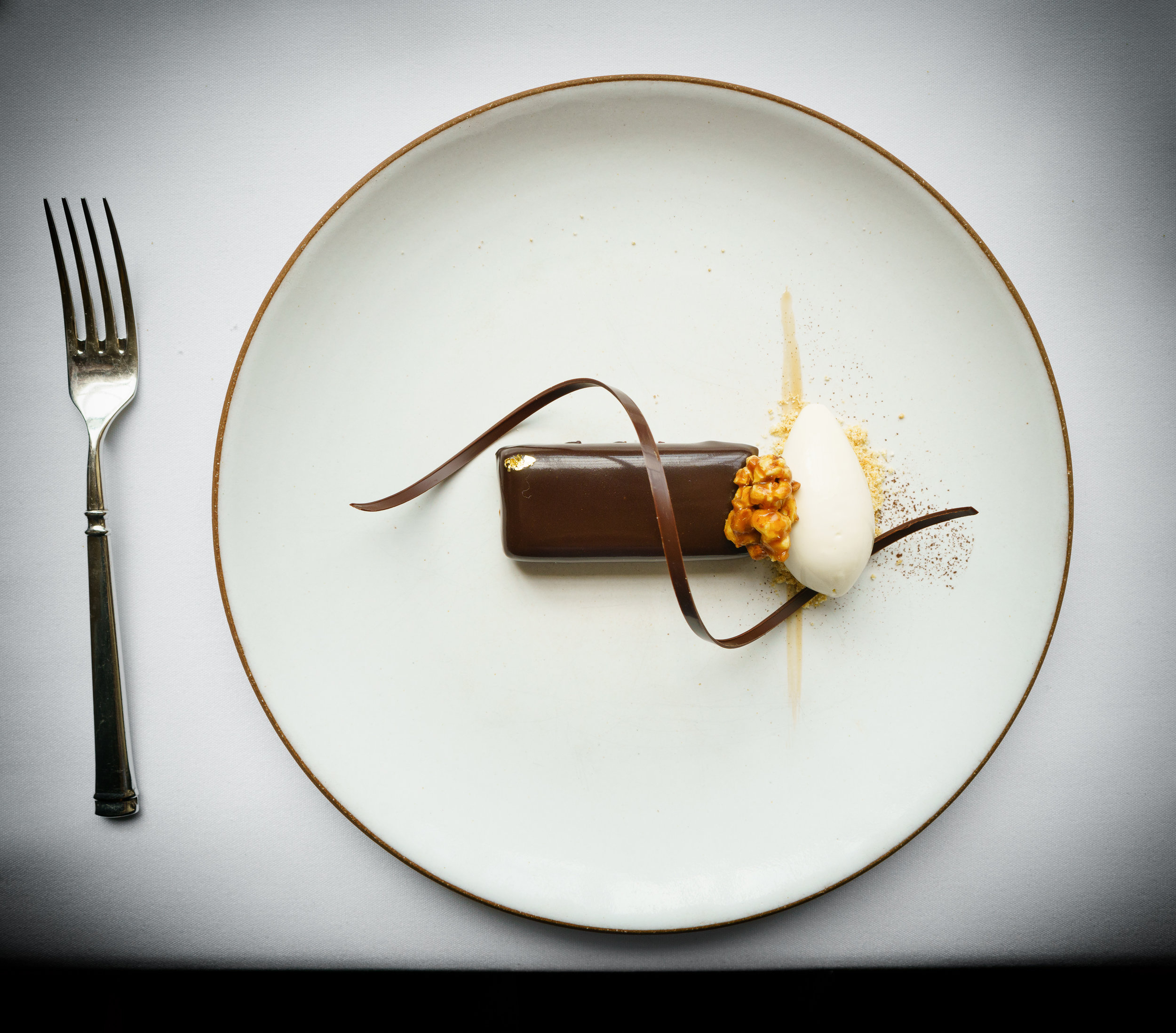 Chocolate: palette with peanut butter and popcorn ice cream (2008)