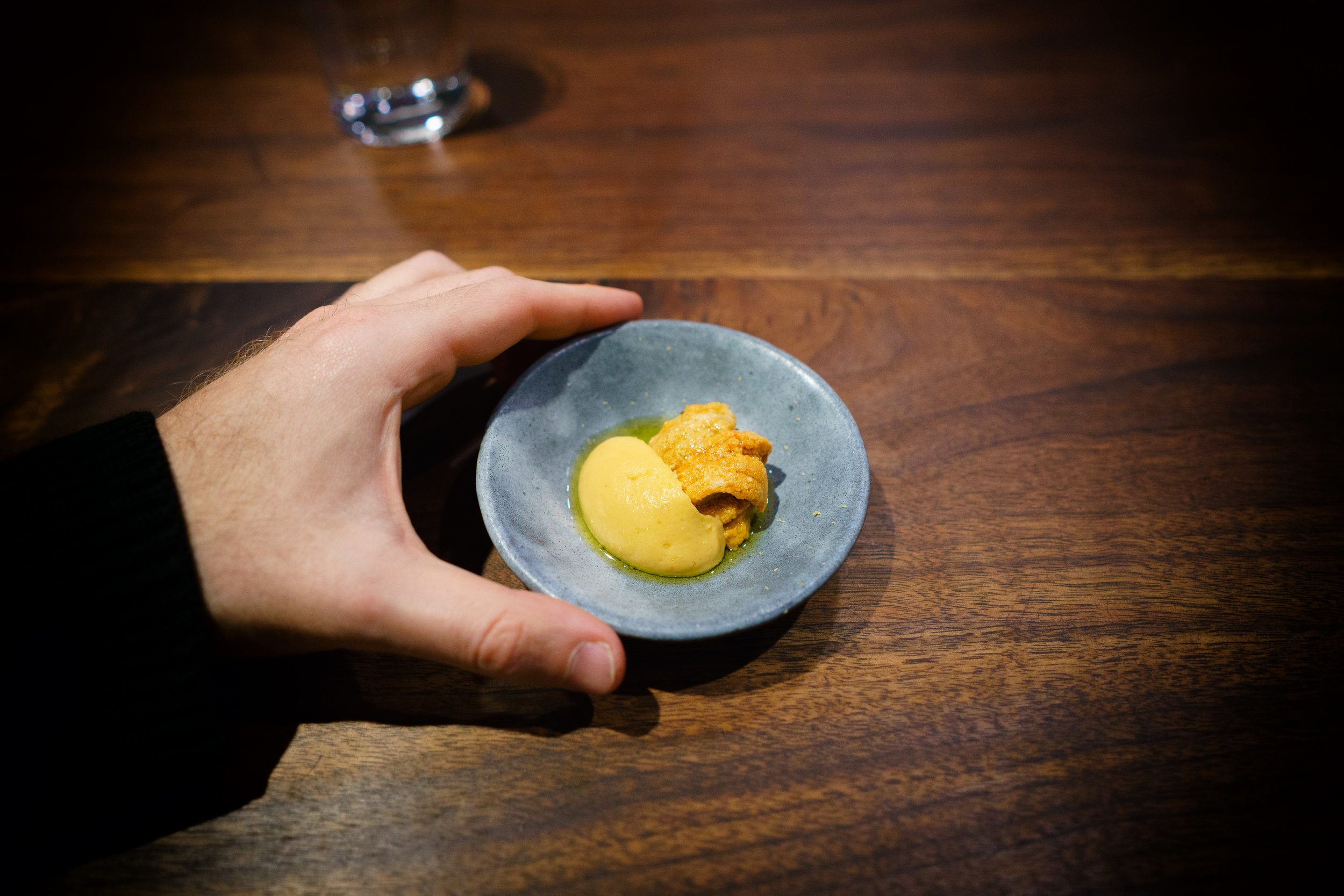 Sea urchin - chickpea, hozon