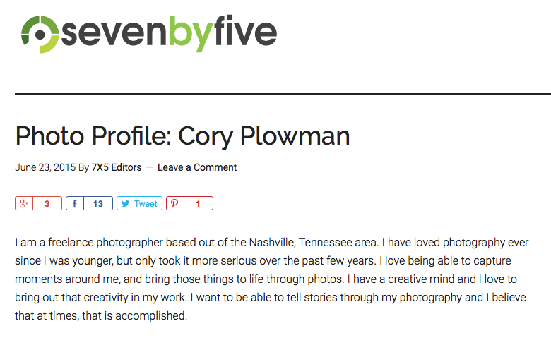 Featured on SevenbyFive, 1 of 5