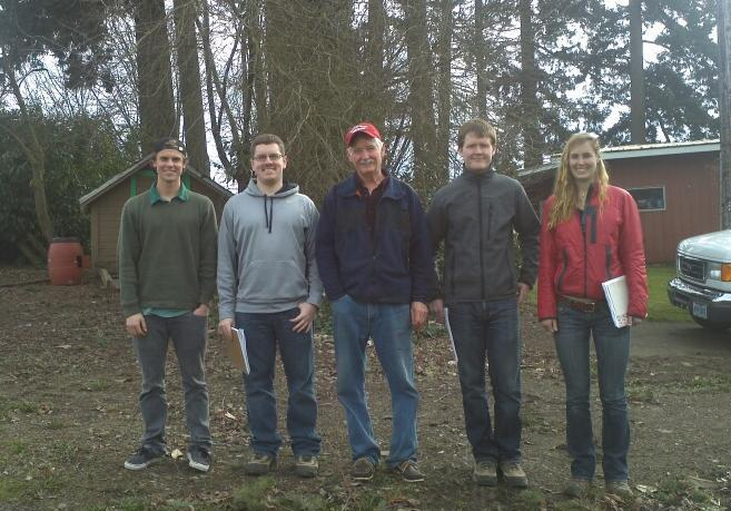 Teaching Willamette University Students about geology, Irrigation wells and Water Rights, near Salem, Oregon