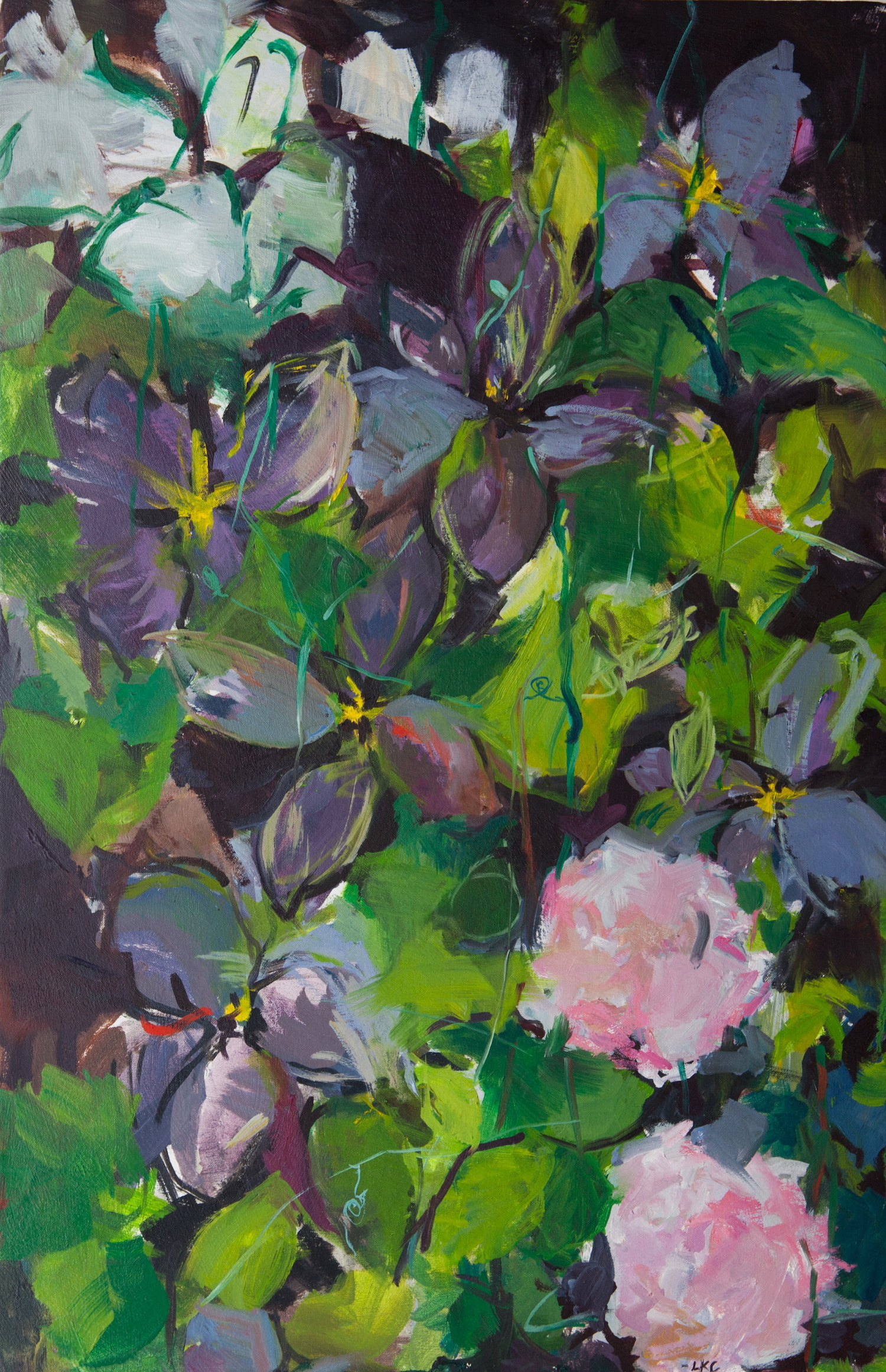 "Vines 34""x22"" oil on canvas"
