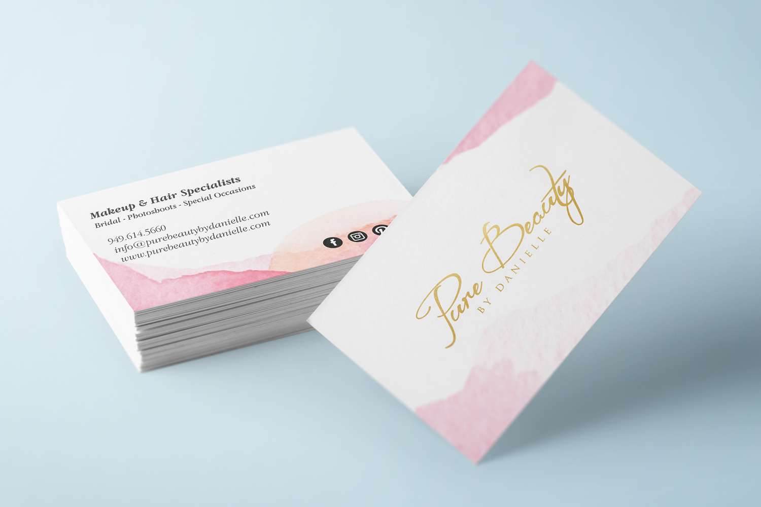 business cards can be easily carried and handed out on a whim