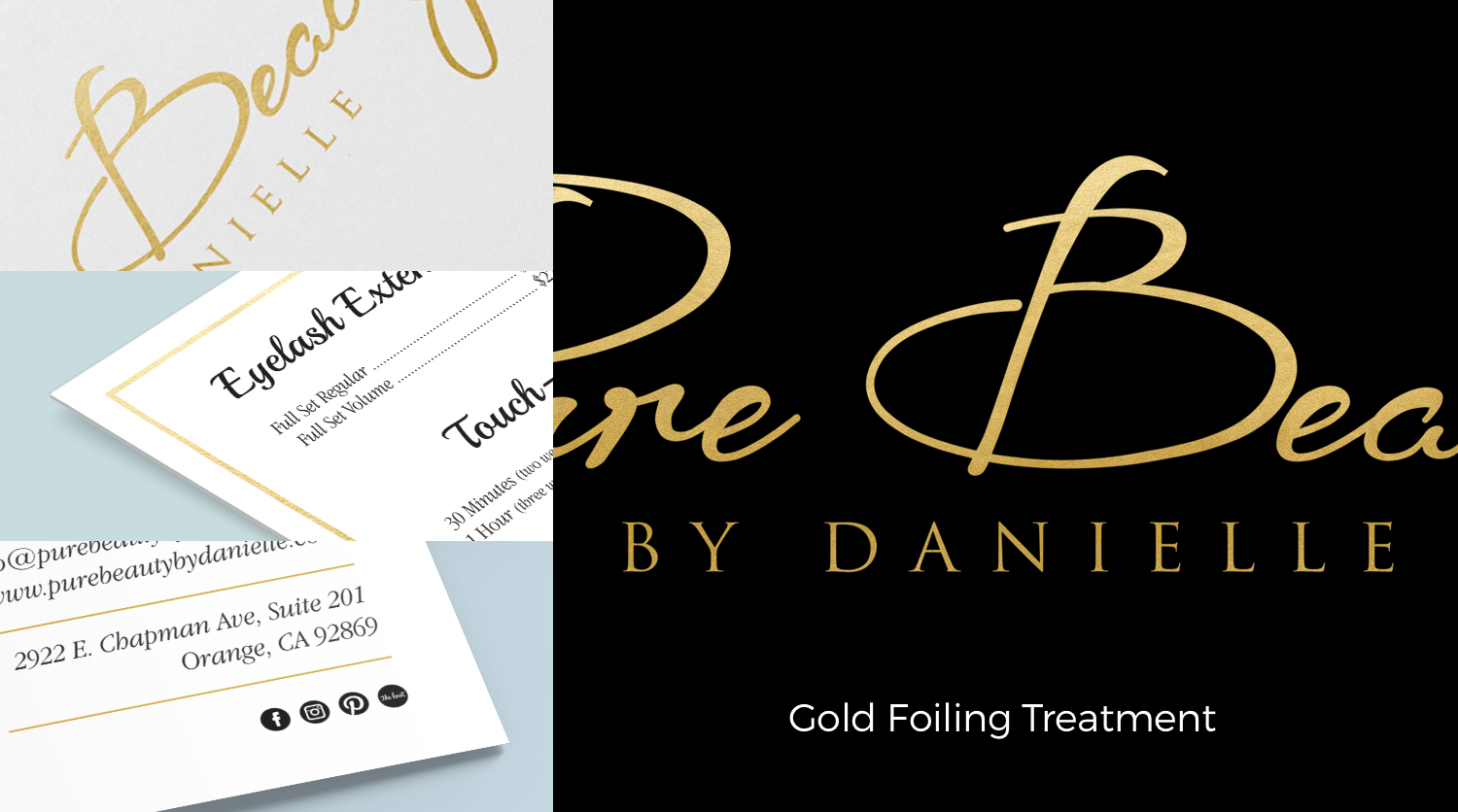 gold foiling adds a physical touch of elegance
