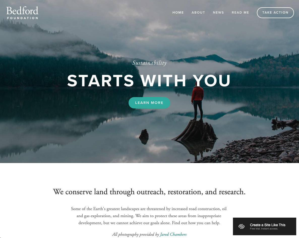 Bedford Template, Created by Squarespace