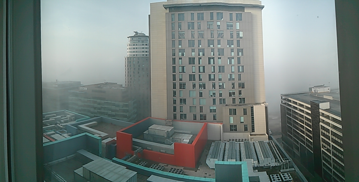 A very foggy Manchester