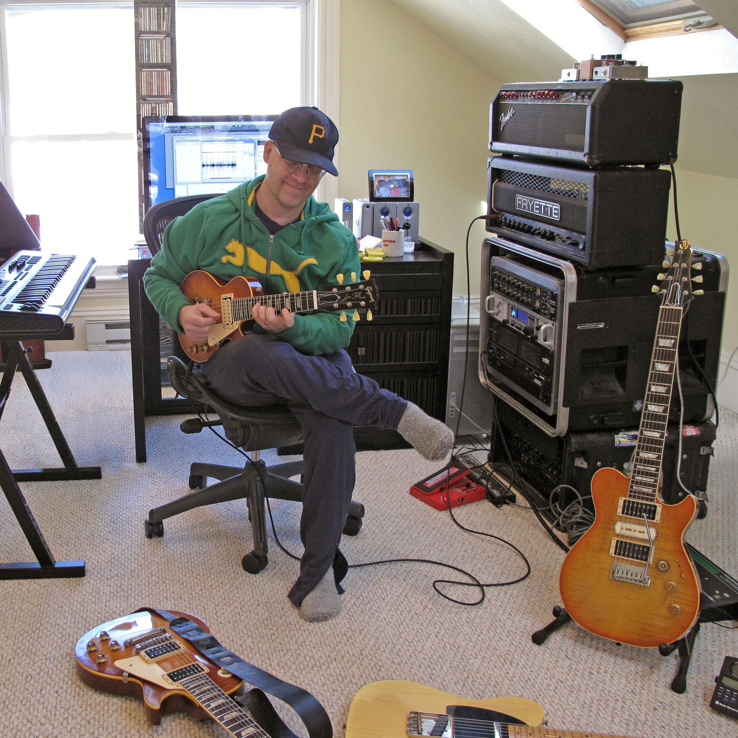Matte Henderson in the Studio, 2014.