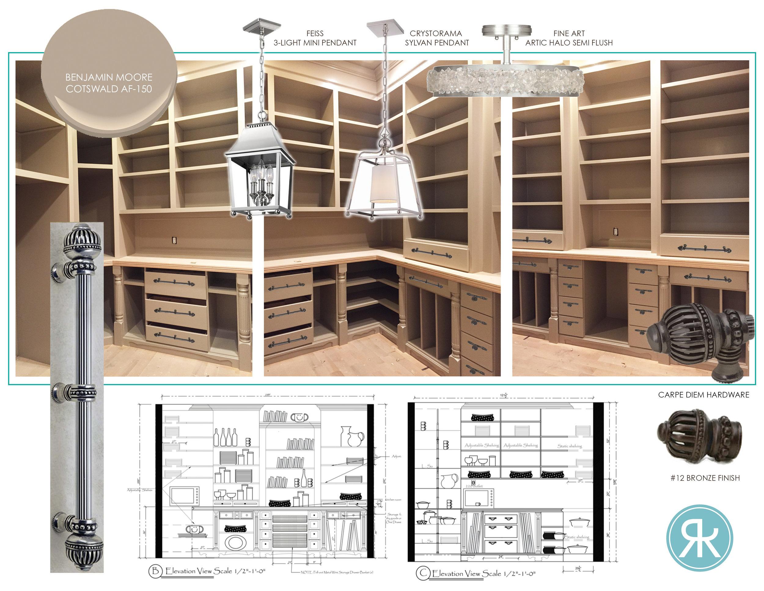 Custom Home Pantry Design by Regina Kay Interiors