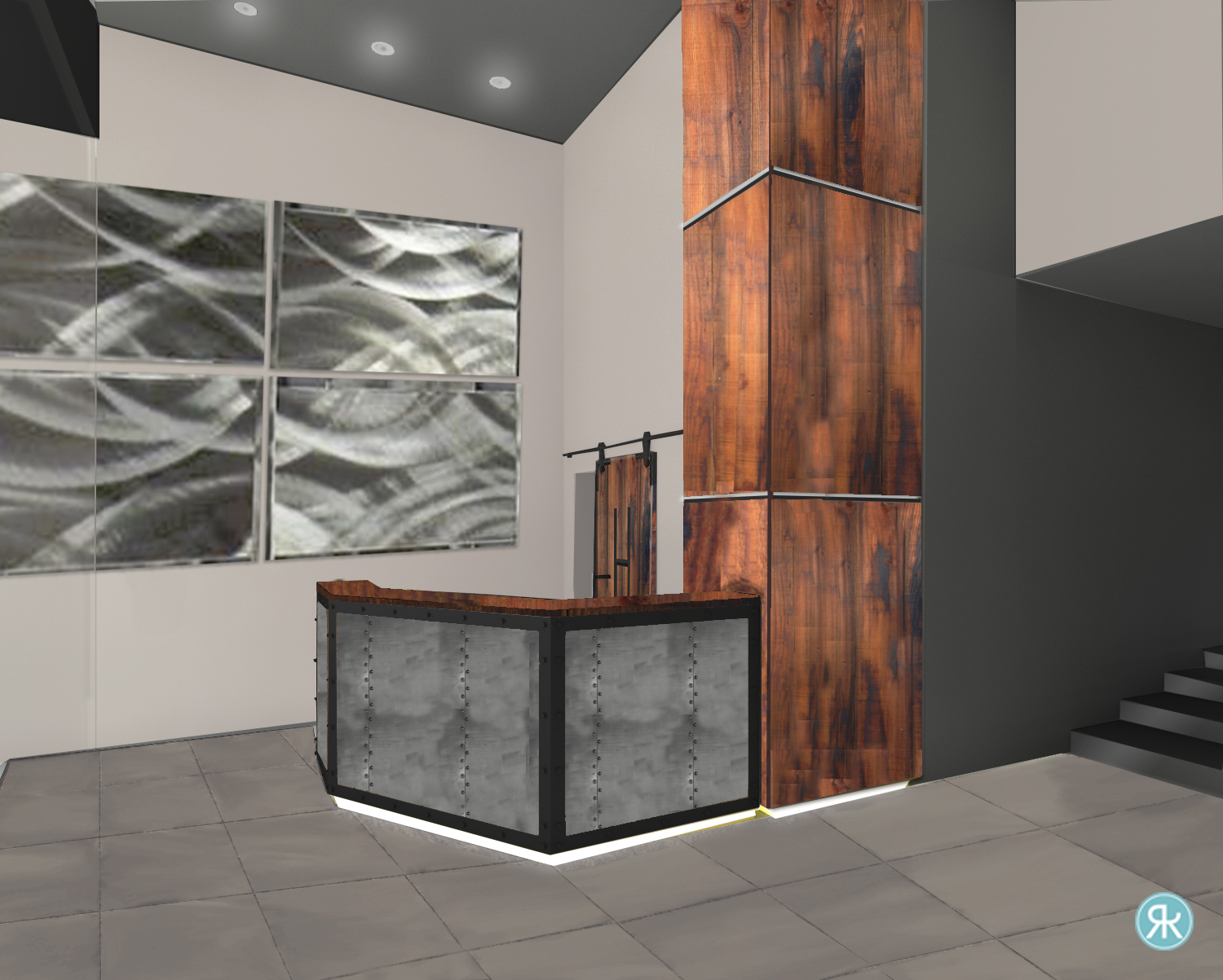 Metal Desk Wood Column Current Floor.jpg