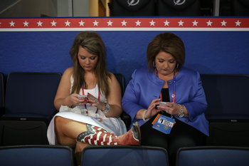 RNC Convention boots with mom.jpg