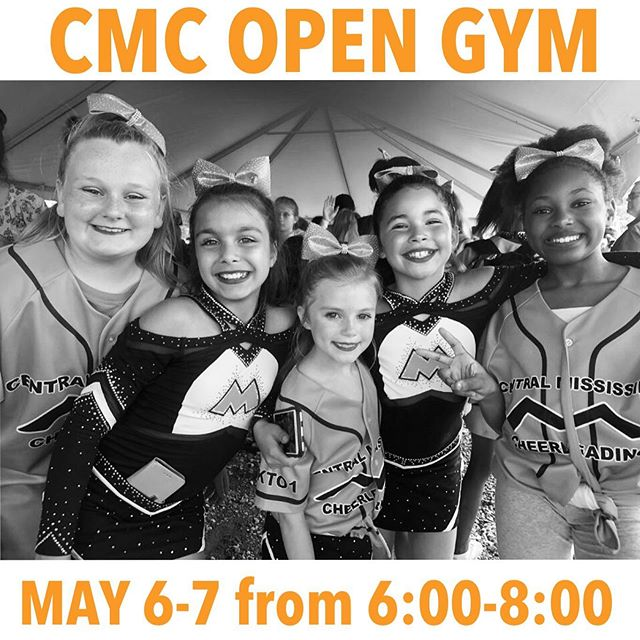 Thinking of joining our CMC Family?! Join us at a FREE Open Gym May 6th and 7th from 6:00-8:00! Meet the staff, tour our amazing facility, and work on some skills before evaluations! We hope to see you there! #CMCtheplacetobe #UKTO1