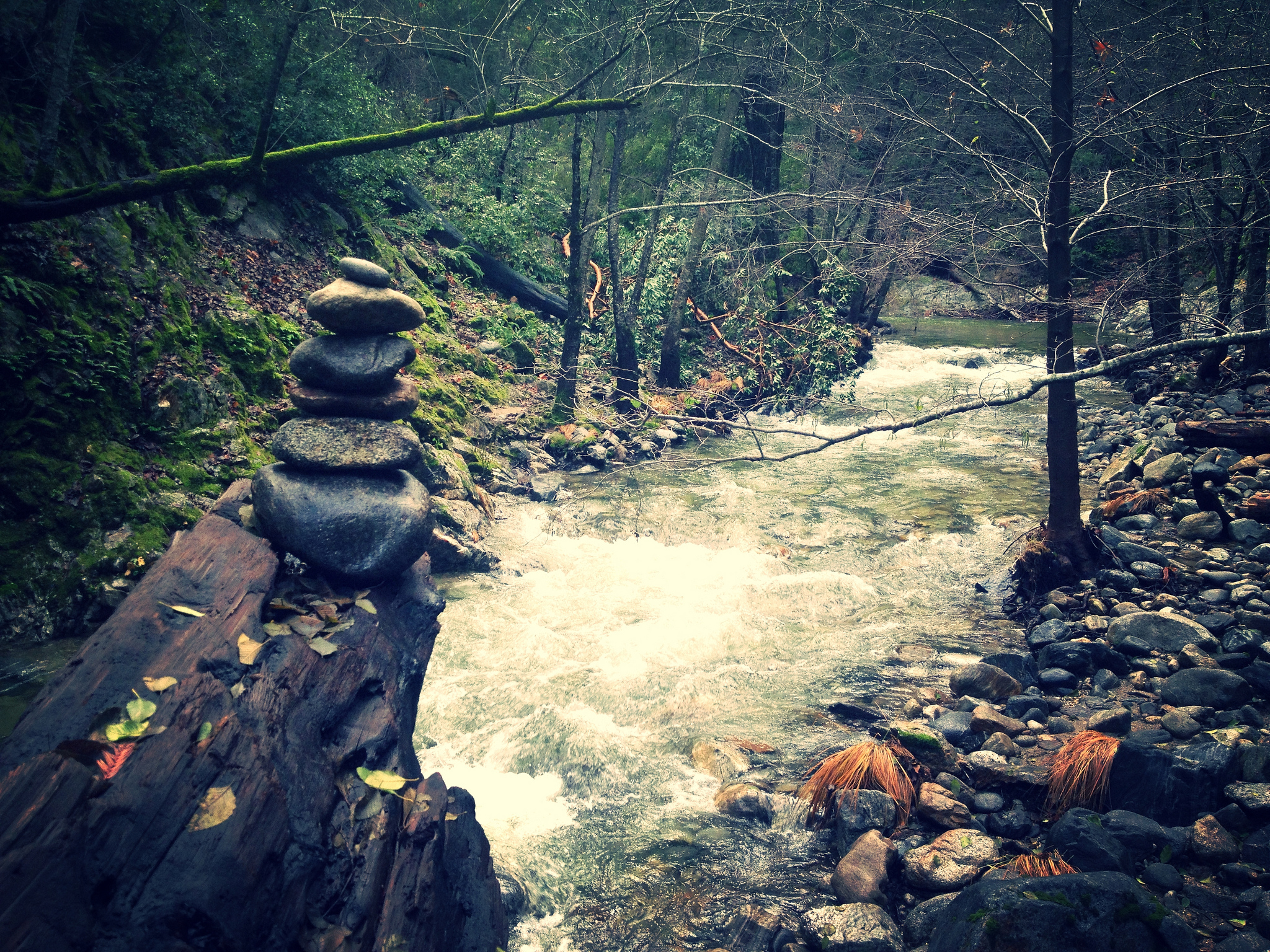 Stacked Rocks on the Big Sur River