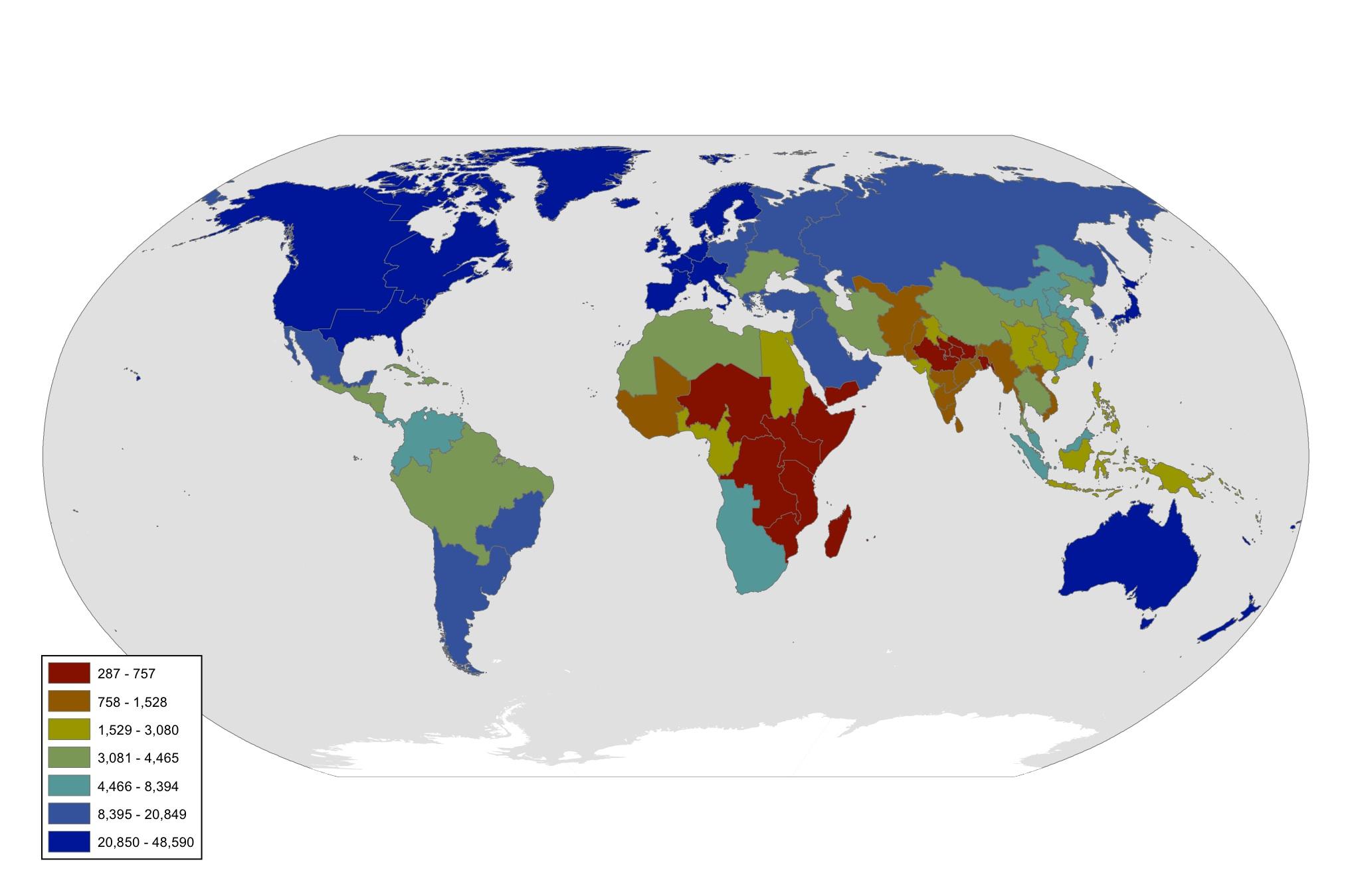GDP (PPP) Per Capita  World Bank  2011