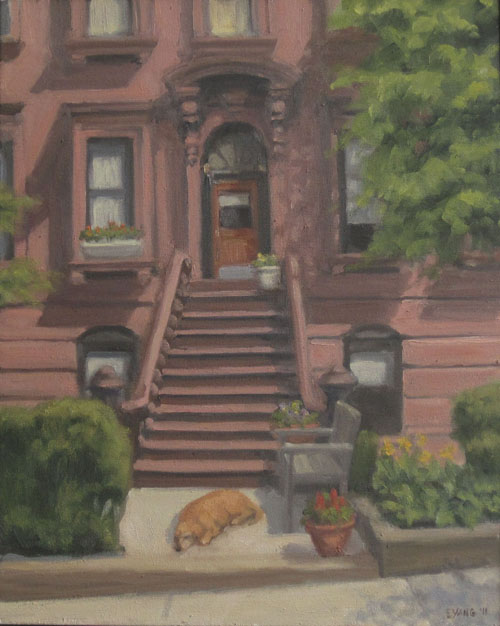 Brownstone with Dog, 2011