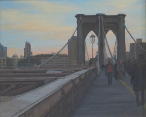 Sunset Walk Across Brooklyn Bridge