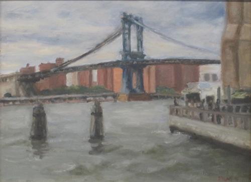 Manhattan Bridge, Cloudy Afternoon