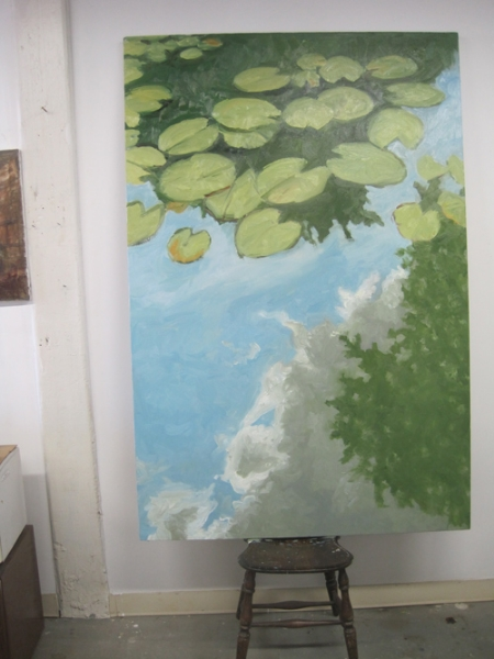 Lily pads large cloud - in progress