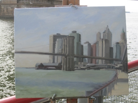 Brooklyn Bridge and River 2