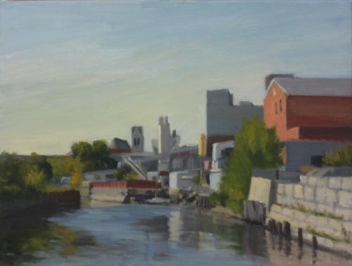 Sunlit Bank of Gowanus Canal, 2015