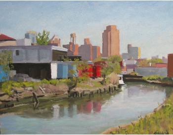 """Gowanus Canal,"" oil on canvas, 11""x14"", 2002"
