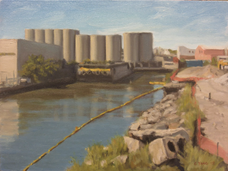 Silos by Canal, 2013