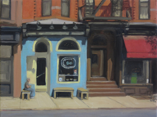 Cousin Johns Bakery , oil on canvas, 12x16