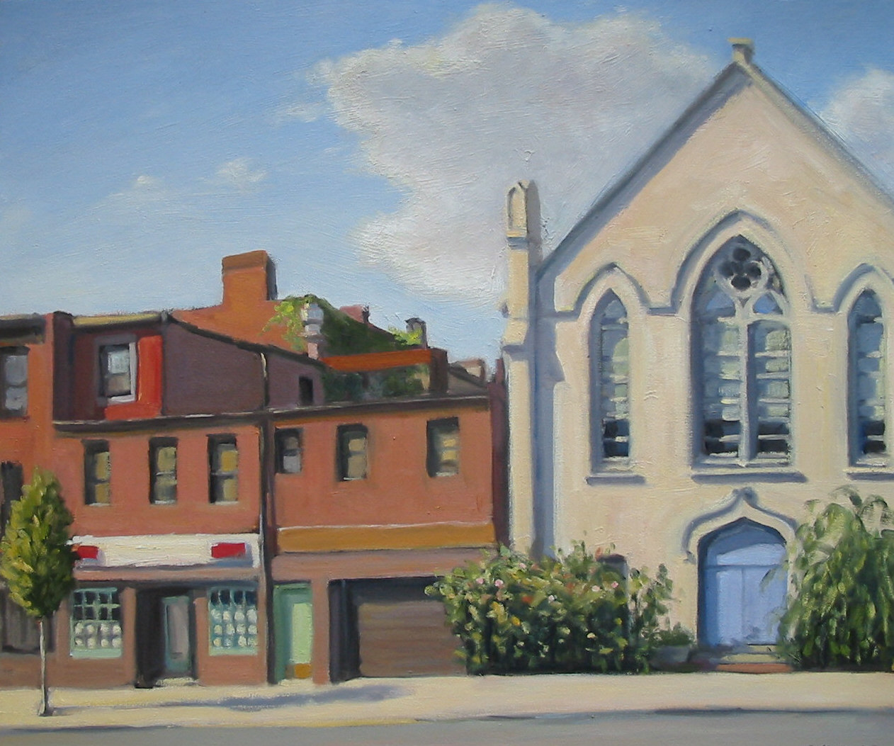 Old Church and Bodega, oil on linen, 20x24 inches