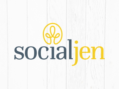 Logo Design for SocialJen, Marketing Consultant in Charlotte, NC