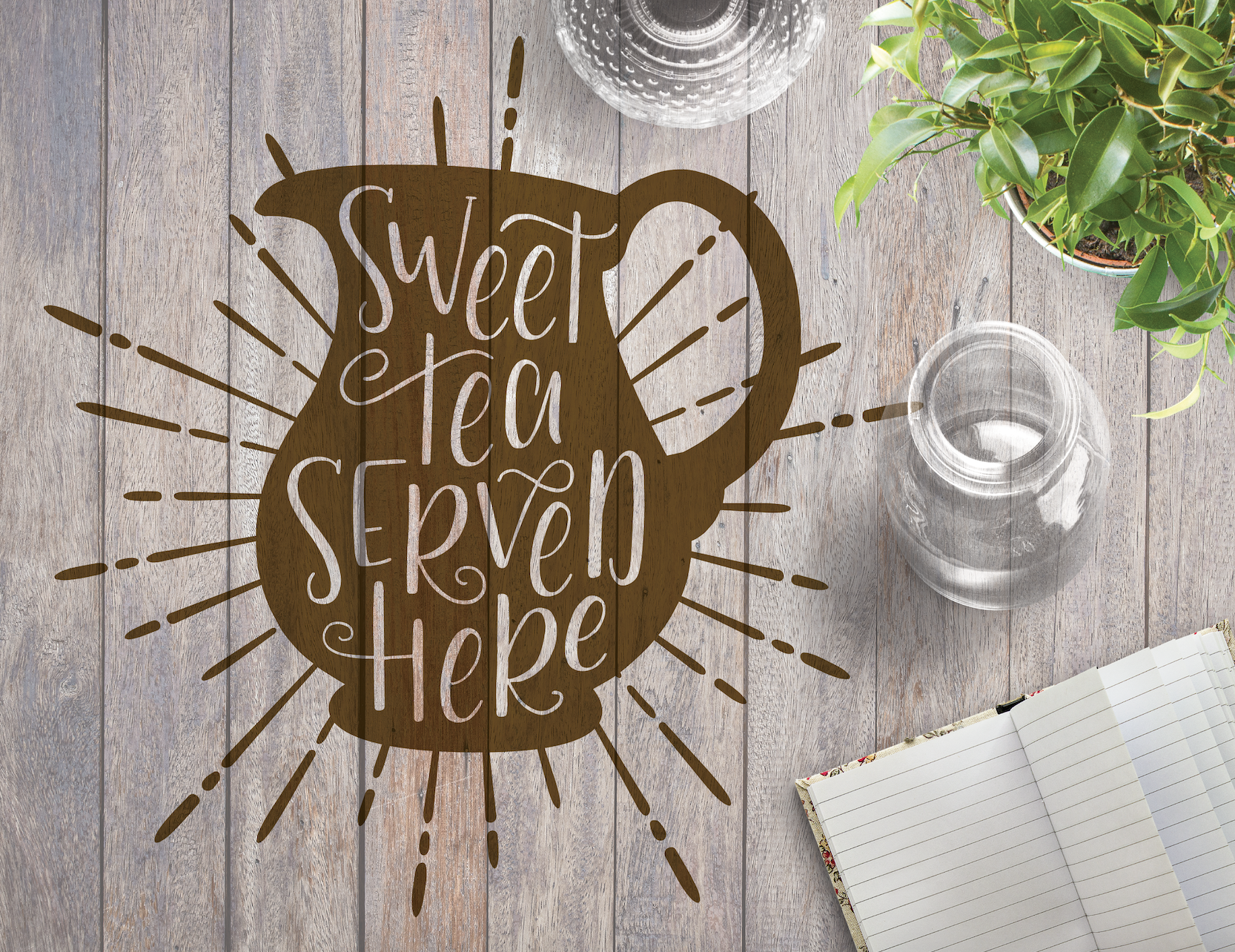 What's not to love about a cold pitcher on a hot day? Create a fun wooden sign for your back deck this summer! //   Download Now