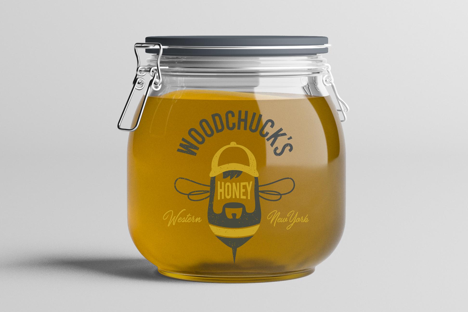 Logo Design   Woodchuck's Western NY Honey   Delevan, NY
