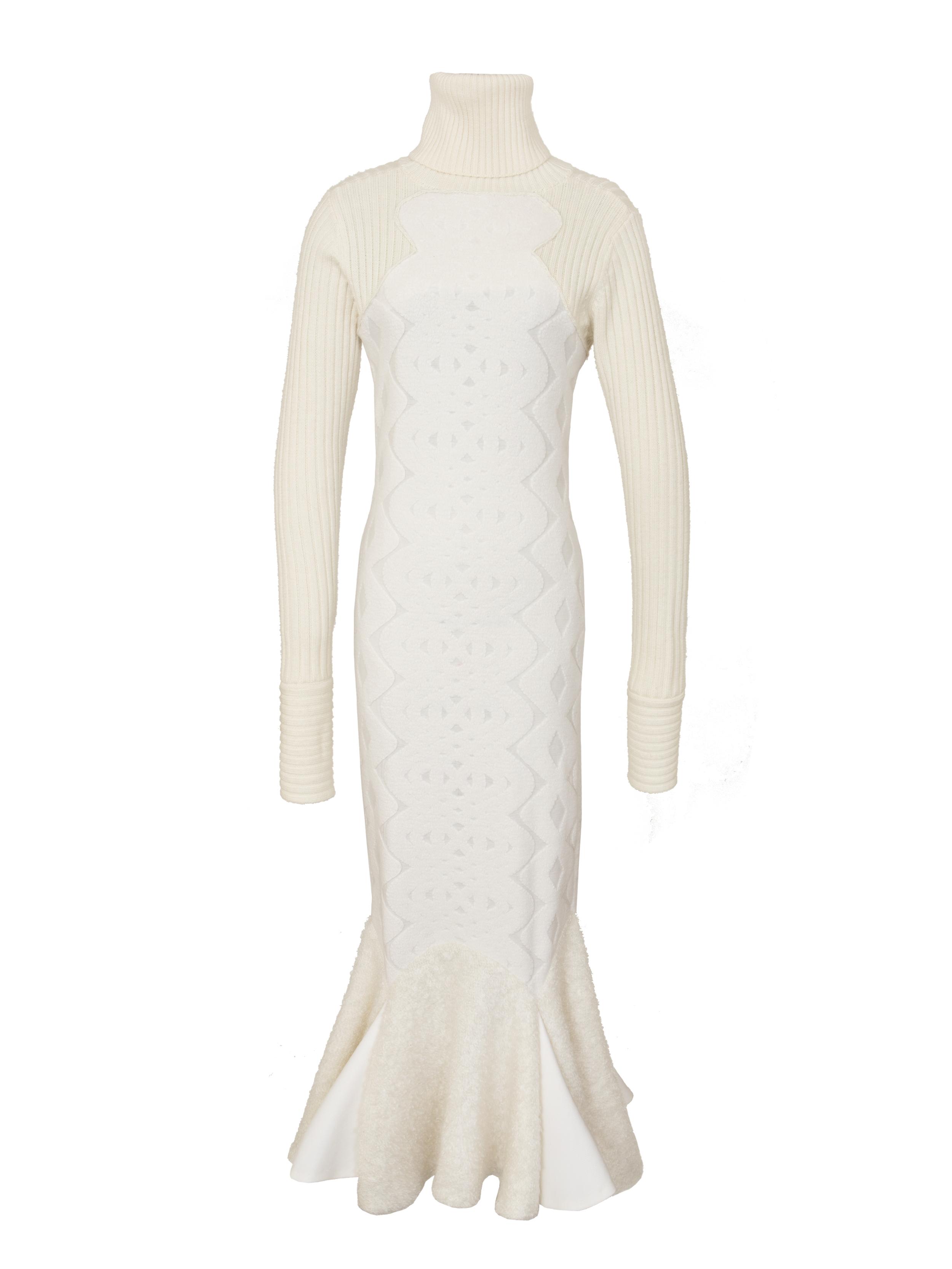 P1183-R, L:S Turtleneck Flare Dress, Ivory.jpg