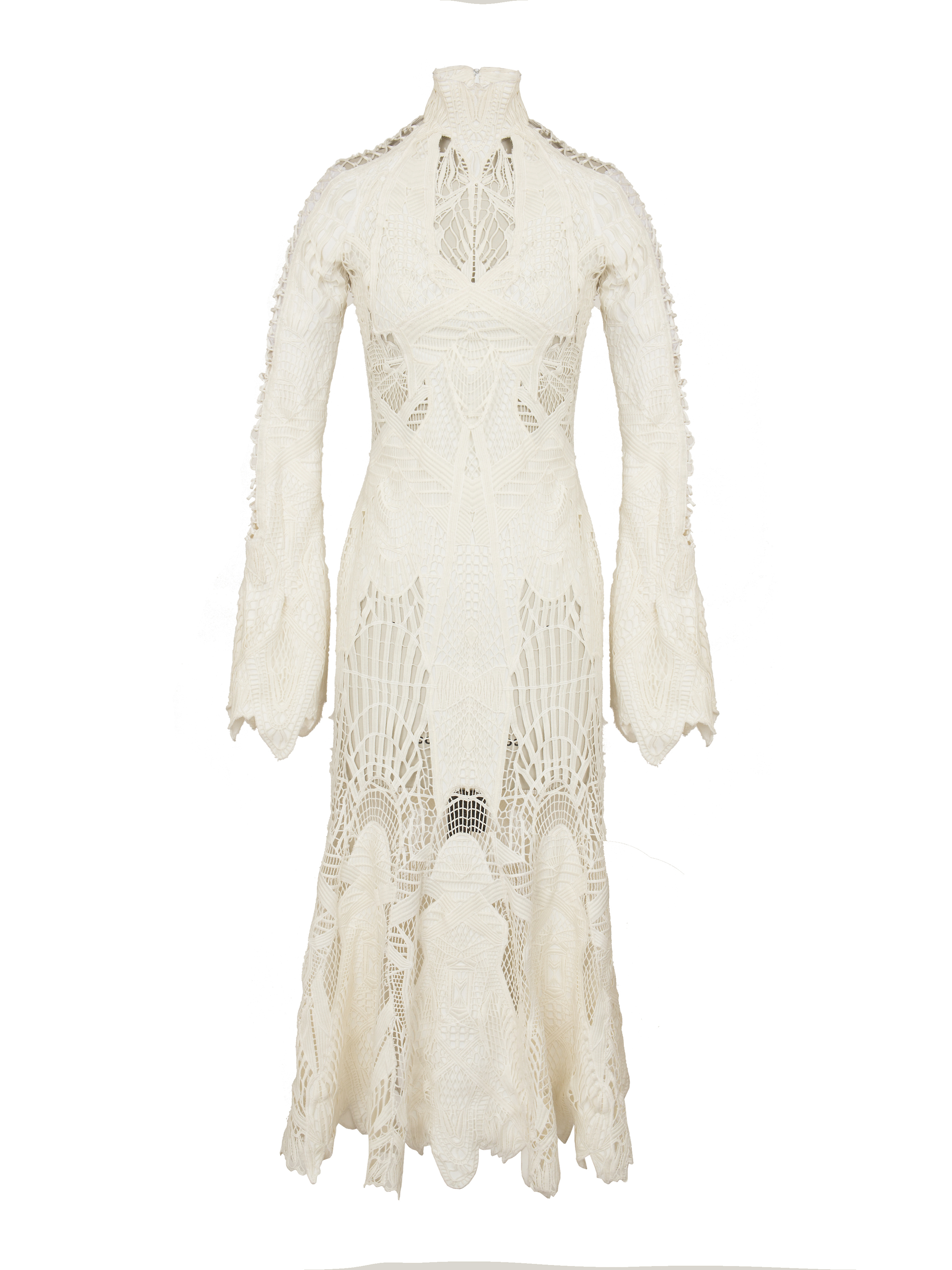 P1517-Y, Lace-Up Sleeve Trumpet Gown.jpg